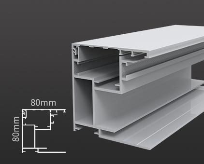 HBMAX80-80工程加厚拉布铝型材