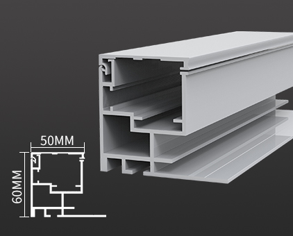 HBMA50-60正面开启拉布灯箱铝型材