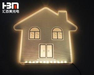 高亮异形展示导光板 雕刻划线 丝印 打点 导光板可订做